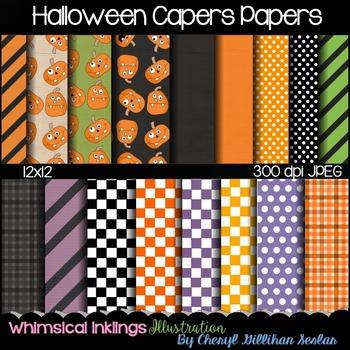 Halloween Capers Digital Papers 12x12