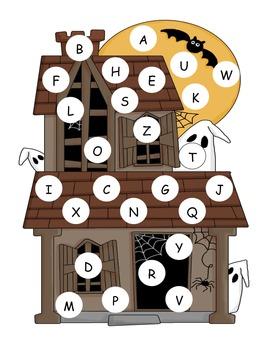 Halloween Capital Alphabet Mat