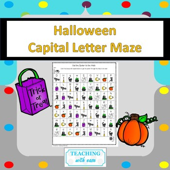 Halloween Capital Letter Maze
