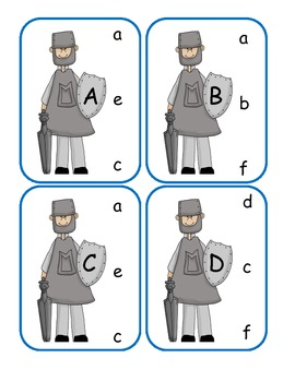 Halloween Capital to Lowercase Clip Cards