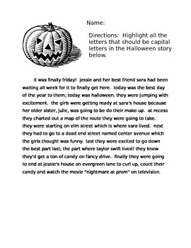 Halloween Capitalization