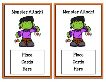 Halloween Card Game (ready made &editable cards)
