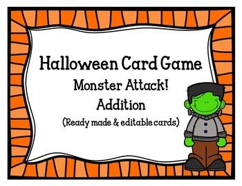 Halloween Card Game (ready made &editable cards)