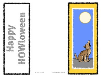 Halloween Card - Happy HOWLoween Activity Card to give - better than Candy