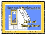 Halloween Card - Happy HOWLoween Activity Card to give - b