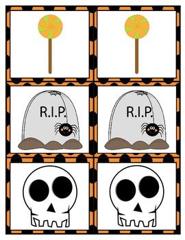 Halloween Card Matching Game