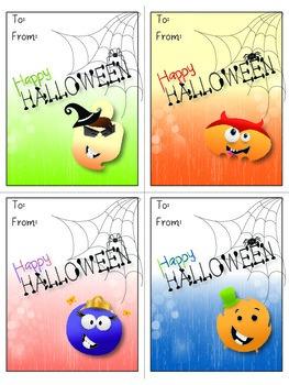 Halloween Card Printables - Fun Little Monsters, Pumpkins, Spiders, Bats