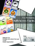 Halloween Card Printables - Fun Little Monsters, Pumpkins,
