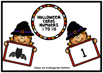 Halloween Cards 1 to 10 Match Freebie