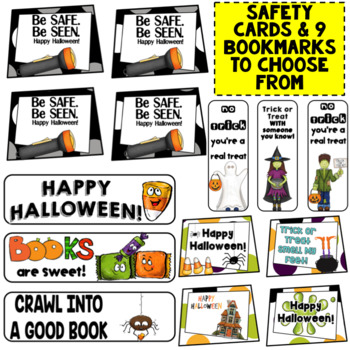 Halloween Cards, Lunch Box Notes, and Safety Cards for Halloween