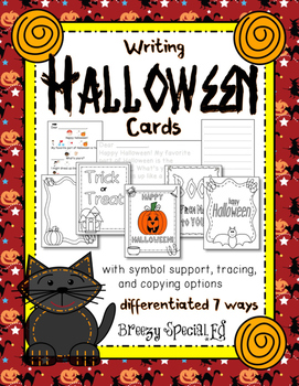 Halloween Cards: Differentiated for ALL your Special Education Students