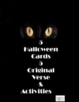 Halloween Cards - Original Verse - Original Activities - Set 4