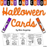 Halloween Cards - Print & Color