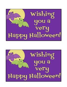 Halloween Cards/Teacher Cards - 12 total