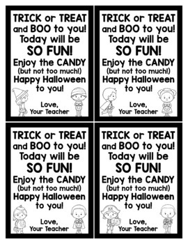 Halloween Cards for Students - Editable in color & black and white!