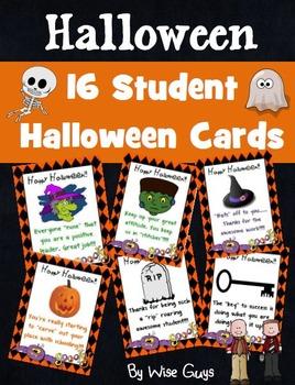 Halloween Student Cards
