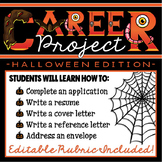 Halloween CREATIVE Career Project (resume, application, cover letter, etc.)