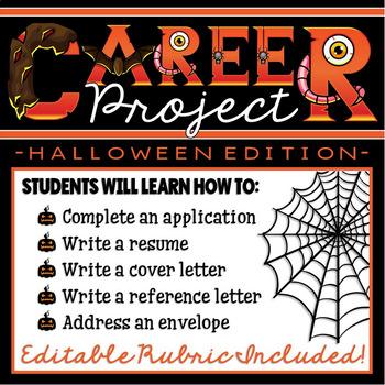 Halloween CREATIVE Career Project (resume, application ...