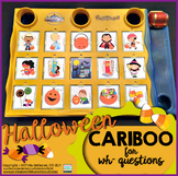 Cariboo Halloween {for WH- questions & language therapy}