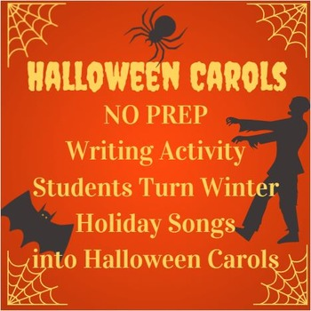Halloween Activity: Carol / Song Creative Writing Poetry Activity