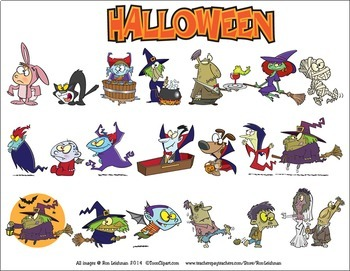 Halloween Cartoon Clipart Vol. 1