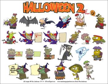 Halloween Cartoon Clipart Vol. 2