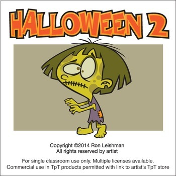 Halloween Cartoon Clipart Vol. 2