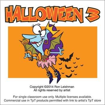 Halloween Cartoon Clipart Vol. 3