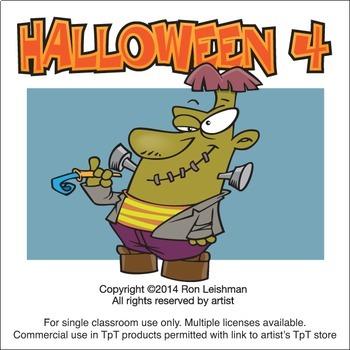 Halloween Cartoon Clipart Vol. 4