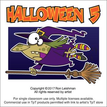 Halloween Cartoon Clipart Volume 5