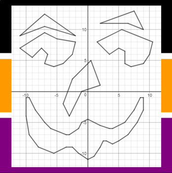 Halloween - Carvable Coordinates - A Coordinate Graphing Activity