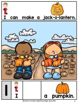 Halloween Fall Pumpkins -Adapted Book (PreK-2/ELL/Autism/SPED)
