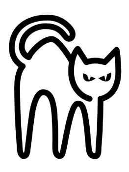 halloween cat black cat template cat outline halloween black cat