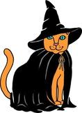 Halloween Cat Clip Art Freebie