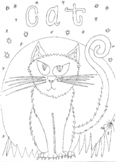 Halloween: Cat Colouring Sheet