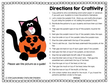 Halloween Cat Cut and Paste