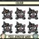 Halloween Cat Page Toppers Clip Art