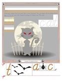 Halloween Cat Tracing and Cutting - Fine Motor Skills Practice - Halloween