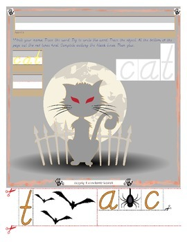 Halloween Cat Tracing and Cutting - Fine Motor Skills Prac