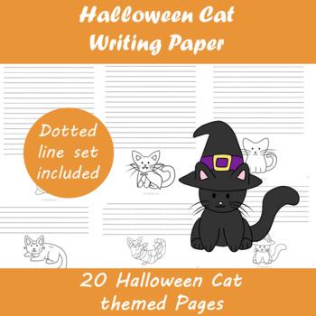 Halloween Cat Writing Paper