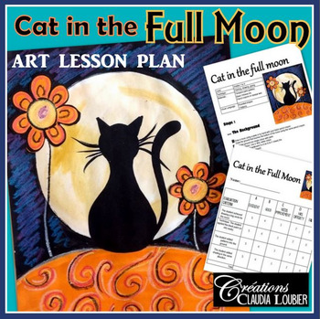 Halloween: Cat in the Full Moon