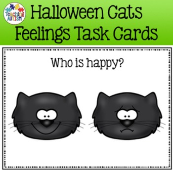 Feelings and Emotions Halloween Task Cards Cats