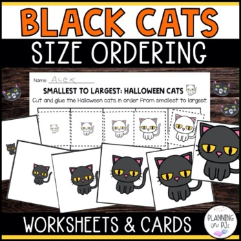 Halloween Black Cats Size Ordering (From Smallest to Largest)