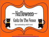 Halloween- Cats On The Fence (short vowel CVC match up)