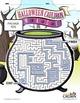 Halloween Cauldron Maze Puzzle - Halloween Puzzle - Spooky, Witch - B&W Ready