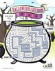 Halloween Cauldron Maze Puzzle - Halloween Puzzle - Spooky