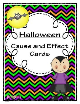 Halloween Cause and Effect Cards