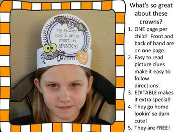 Halloween Celebration Crown - EDITABLE