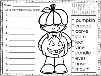 """Halloween (Includes """"How to Carve a Pumpkin"""" writing)"""