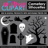 Halloween Cemetery Clip Art (Digital Use Ok!)
